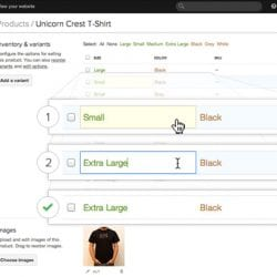 How to Set up Product Variants with Shopify